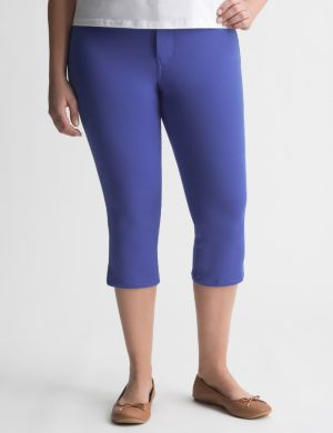 Colored jegging capri