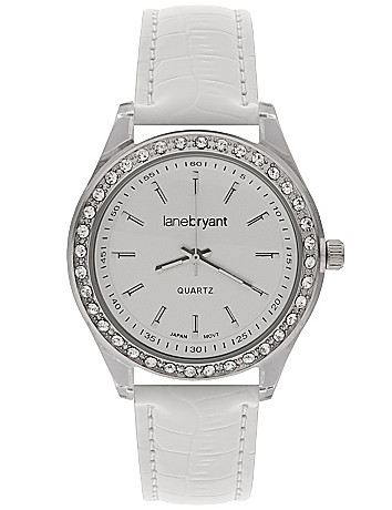 Patent croc watch by Lane Bryant