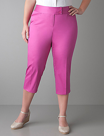 Plus size Sateen cropped pant by Lane Bryant