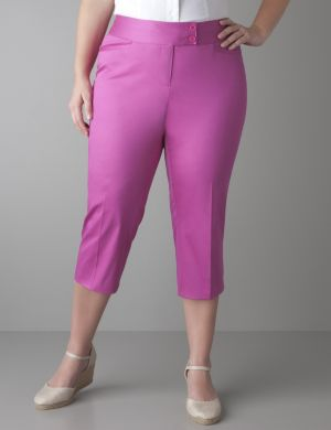 Sateen cropped pant