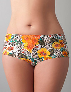 Tropical burst boyshort panty by Cacique