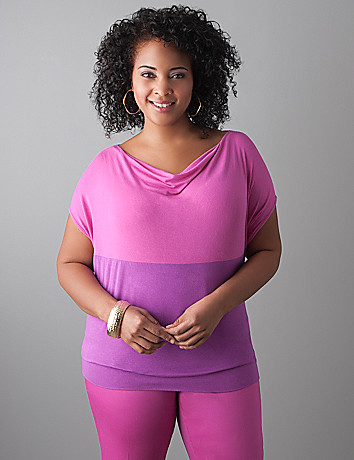 Plus size Colorblock dolman top by Lane Bryant