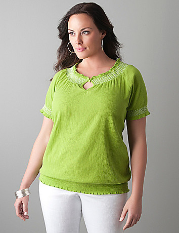 Gauze peasant top by Lane Bryant