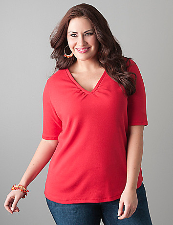 Full figured Elbow sleeve tee by Lane Bryant