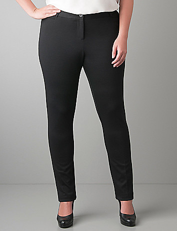 Ponte knit stovepipe pant by Lane Bryant