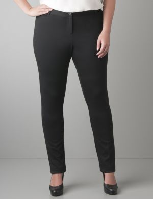 Ponte knit tailored jegging