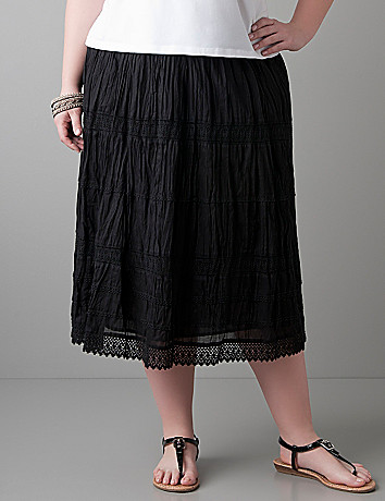 Crochet trim skirt by Lane Bryant