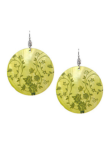 Stamped shell earrings by Lane Bryant