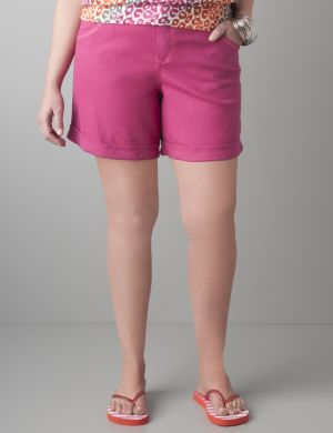 Colored denim short