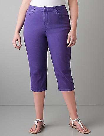 Colored denim crop by Lane Bryant