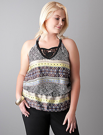 Tribal print halter top by Lane Bryant