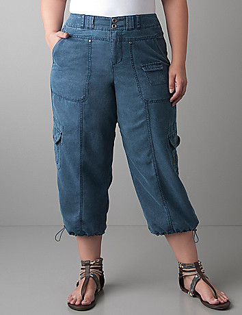 Plus size womens Cargo capri | Lane Bryant