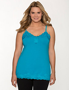 Essential lace trim cami