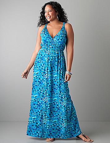 Full figure Animal print maxi dress by Lane Bryant