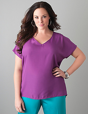 Knit back blouse by Lane Bryant