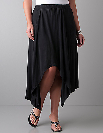 Drape front skirt by Lane Bryant