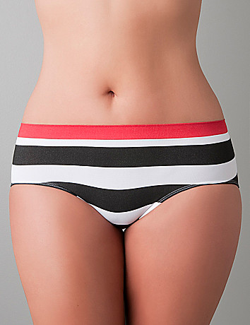 Striped seamless hipster panty by Cacique