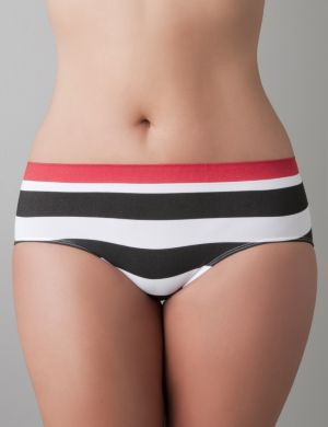 Striped seamless hipster panty
