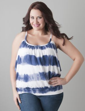 Tie dye banded bottom tank