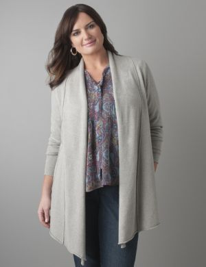 Exposed seam cardigan