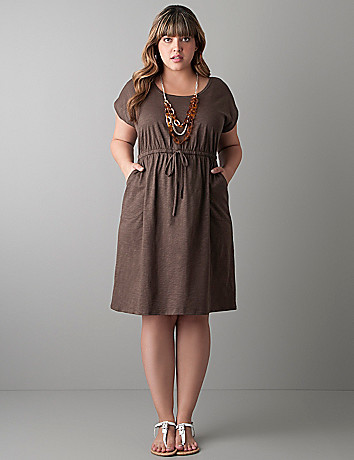 Plus size Slub T-shirt dress by Lane Bryant