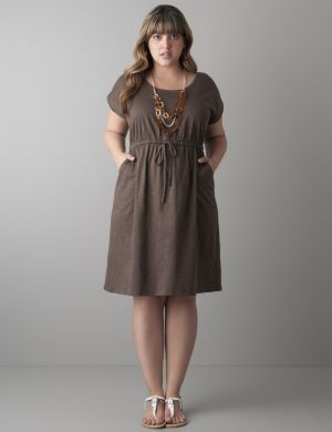 Slub T-shirt dress