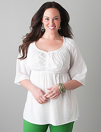 Eyelet lace top by Lane Bryant