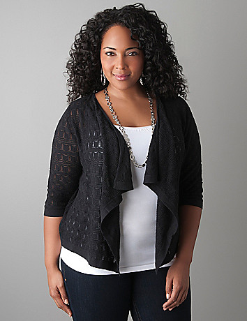 Sparkle stitch shrug by Lane Bryant