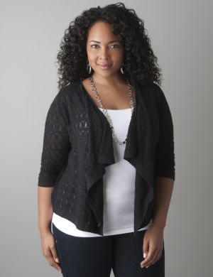 Sparkle stitch shrug