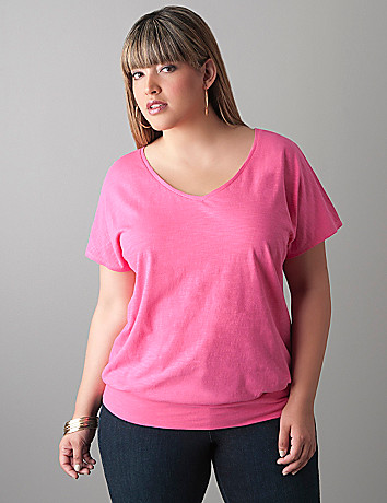 Plus size Dolman tee by Lane Bryant