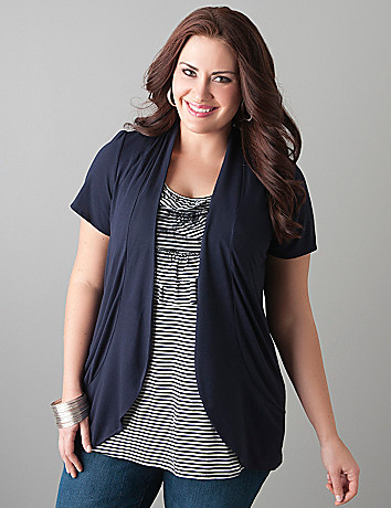 Layered ruffled top by Lane Bryant