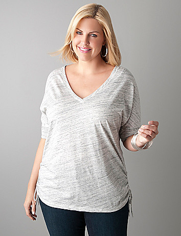 Shirred side dolman top by Lane Bryant
