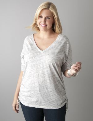 Shirred side dolman top