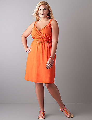 Sleeveless dressy A line dress by Lane Bryant