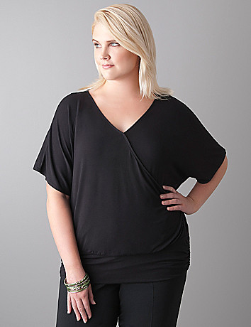 Surplice dolman top by Lane Bryant