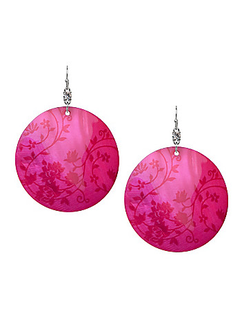 Floral shell earrings by Lane Bryant