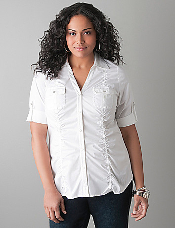Shirred Side Sexy Shirt by Lane Bryant