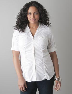 Shirred Side Sexy Shirt