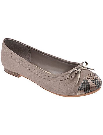 Snake toe ballet flat by Lane Bryant