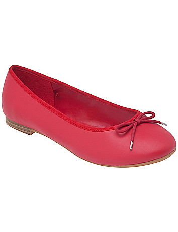 Bow accent ballet flat by Lane Bryant