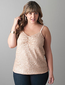 Sequin front cami by Lane Bryant
