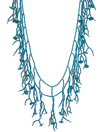 Seed bead long necklace