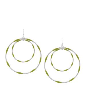 Color accent hoop earrings by Lane Bryant