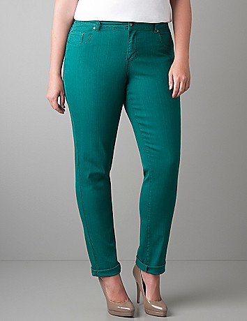 Skinny denim jegging by Lane Bryant
