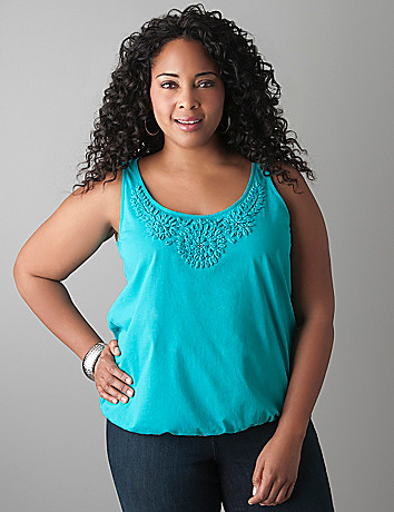 Chiffon accent tank by Lane Bryant