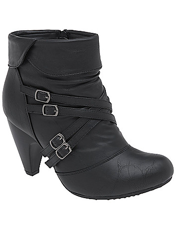 Multi buckle ankle boot by Lane Bryant