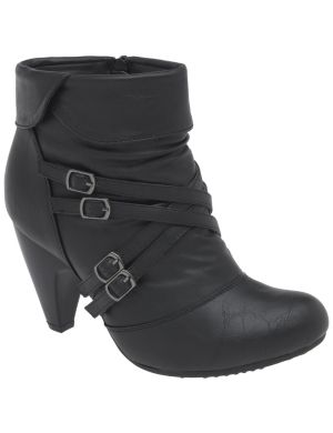 Multi buckle ankle boot