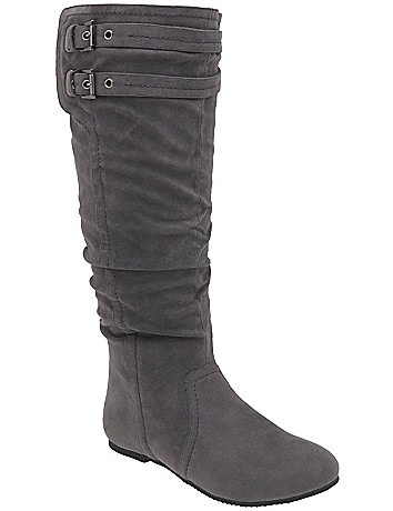 Buckled slouch boot by Lane Bryant