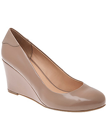 Patent wedge heel by Lane Bryant