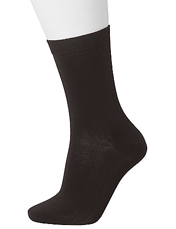 Bamboo crew sock 2 pack by Lane Bryant
